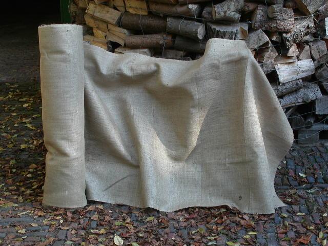 Tissu de Jute Toile À Mesurer nature 130cm large, H305 poids moyen