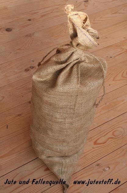 50 Sandsäcke Sandsack  Jute mit Zubindeband 30 x 60 cm feste Qualität